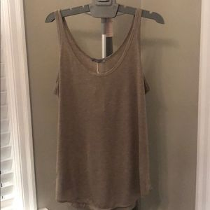 Zara tan/brown scoop neck tank top